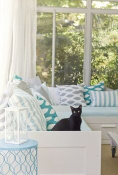 summer home staging tip never waste a view, real estate, Beachy Sunroom