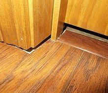doors before floors, doors, flooring, home maintenance repairs, gaps where frame doesn t cover new flooring