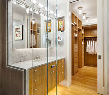 intimate accessible master bathroom dressing area for an artist, bedroom ideas, closet, home decor