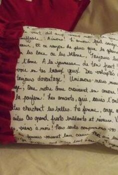 french poetry pillow for valentine s day decor, crafts, seasonal holiday decor, valentines day ideas