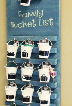 ugly goodwill sign to family bucket list, home decor, painting, Family Bucket List