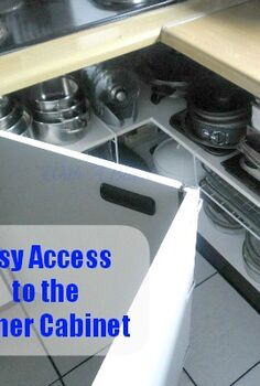 create easy access to the kitchen corner cabinets, cleaning tips, kitchen cabinets, kitchen design, The finished single cabinet We fixed the two doors together to form one L shaped door