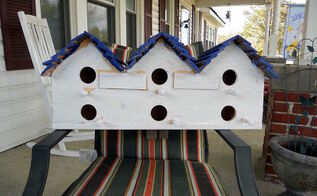 birdhouses, woodworking projects, Chik Inn Two level motel this houses six little families