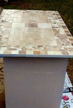q mosaic tile countertop has sharp edges, countertops, tiling