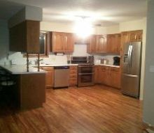 q i hate my ugly spindles under my cabinets do you have any ideas, kitchen cabinets, My kitchen