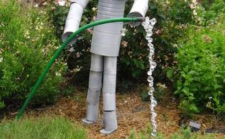 yard art recycling, outdoor living, repurposing upcycling, Yard art recycling
