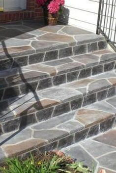 we recently had a pair of clients state in their online questionnaire that they ve, concrete masonry, curb appeal, flooring, outdoor living, porches, tile flooring, tiling, Adding Thinset Stone