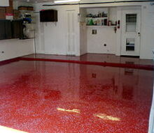 its a bit daring but every client who ordered a red epoxy garage floor has never, flooring, garages, We just love these colorful floors
