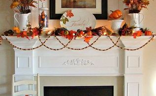 our fall mantel, seasonal holiday d cor, I wanted to add lots of pops of vibrant orange this year