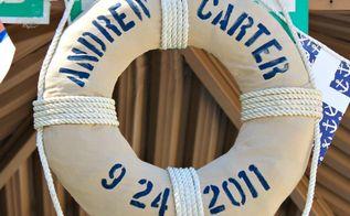 classic nautical first birthday, home decor, DIY life preserver