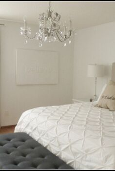 diy upholstered headboard, bedroom ideas, home decor, reupholster
