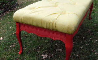 coffee table to tufted bench tutorial, diy, how to, painted furniture, reupholster, Isn t she gorgeous