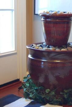 diy water feature fountain, crafts, repurposing upcycling, Finished product
