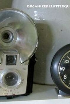 top ten vintage thrifty finds of 2012, repurposing upcycling, The Brownie Camera and the Baby Ben Clock were purchased at under five dollars at garage sales