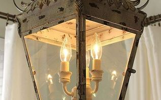 hanging a diy lantern, home decor, lighting, repurposing upcycling
