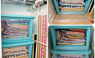 getting my craft closet organized part one small home big ideas, closet, craft rooms, organizing, These bins make it easy to get to everything since they have drop down doors