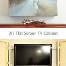 dixie delights honey does diy flat screen tv cabinet, kitchen cabinets