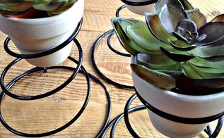 rusty springs and a dumpster fail, crafts, gardening, repurposing upcycling, succulents