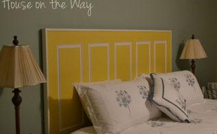 diy headboard made from a door, doors, home decor, repurposing upcycling