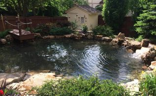 bartlett il pond renovation by gem ponds, landscape, outdoor living, ponds water features