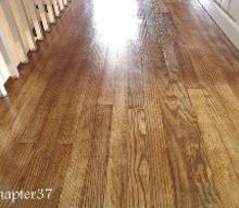 refinishing a floor the easy way, diy, home improvement, pretty wood grain and varying colors this is why I couldn t stain over top of it