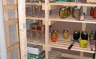 walk in cold storage room in your basement building guide, basement ideas, closet, diy, how to, shelving ideas, storage ideas, woodworking projects, Cold Room shelves to store canning See how to build it