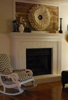 fireplace mantel makeover plank style, fireplaces mantels, home decor, living room ideas