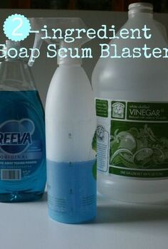 diy soap scum blaster, cleaning tips, Only 2 ingredients needed