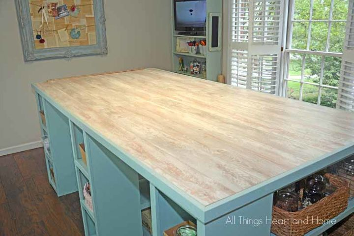 Diy craft room table guess what the top is made of for Can you paint formica table top