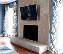 diy concrete fireplace for less than 100, concrete masonry, diy, fireplaces mantels, living room ideas, DIY Concrete Fireplace