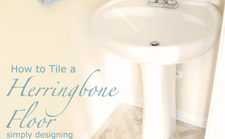 diy herringbone tile floors, bathroom ideas, diy, flooring, how to, tile flooring, tiling