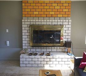 Would You Paint Your Brick Fireplace a Bold Orange? We Did! | Hometalk