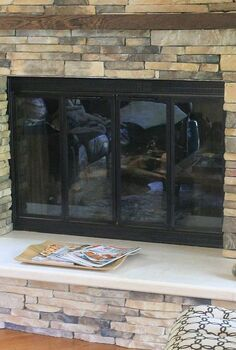 how to update your fireplace surround, concrete masonry, diy, fireplaces mantels, how to