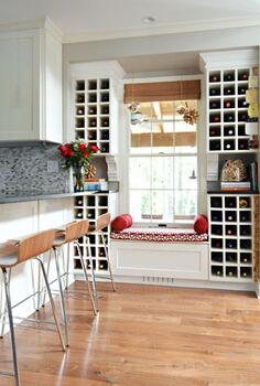 amazing wine nook, home decor, kitchen design, storage ideas, Saw it here on a house tour