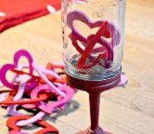 valentine s day mason jar pedestal cloche, crafts, mason jars, seasonal holiday decor, valentines day ideas, Fill with decorations