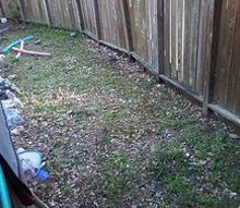 q want to expand patio can i use pavers, concrete masonry, decks, landscape, patio, Weedy area as well as rocks that previous owners had scattered Larger rocks mark boundary between patio and side yard
