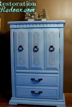 blue chalkpainted nursery armoire, bedroom ideas, chalk paint, painted furniture