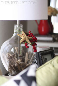 diy fillable lamp christmas in august with lamps plus and hometalk, christmas decorations, crafts, lighting, seasonal holiday decor, Hometalk and Lamps Plus Holiday Design Challenge