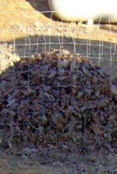 composting leaves a quick guide, flowers, gardening, This cost me nothing as the materials were on site if I had to buy them around 10 to 40 dollars