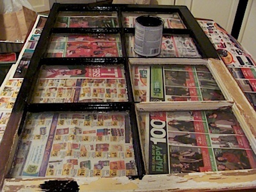 turn an old window into a mirror home decor repurposing upcycling sanding and