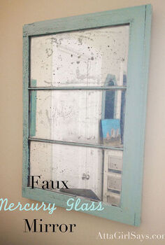 diy mercury glass mirror, chalk paint, home decor, painting, repurposing upcycling, Finished mirror