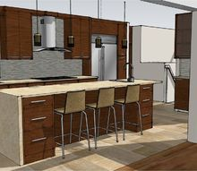 three dimensional visual renderings, Westchester Architect s kitchen client rendering