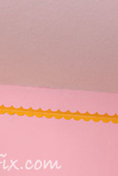 a painted faux eyelet border instead of crown molding, bedroom ideas, paint colors, painting, wall decor, woodworking projects