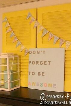 shutter display home decor, home decor, Bright New Look And an awesome sign alderberryhill blogspot com