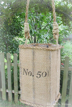 knock off anthropologie jute lantern, crafts, outdoor living, repurposing upcycling, Knock off Anthropologie Jute Lantern