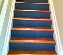 painted stained stairs, painting, stairs
