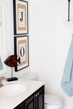 diy coastal bathroom, bathroom ideas, home decor, Coastal bathroom for kids