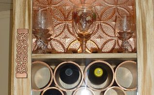 repurposed stereo cabinet into wine cabinet, kitchen cabinets, repurposing upcycling, After