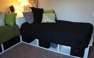 diy corner storage beds, bedroom ideas, diy, painted furniture, storage ideas, Right side
