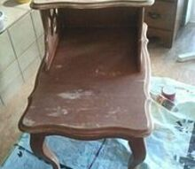red side table, painted furniture, repurposing upcycling, Neglected little table